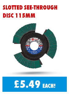 Grind closer to the mark with our slotted disc at just 5.49 each