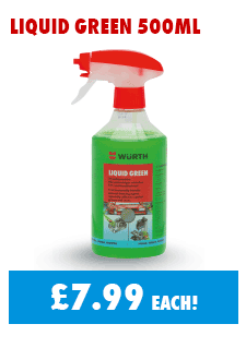 Liquid Green, silicone free cleaner