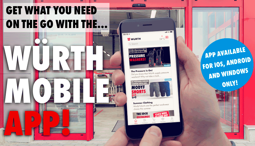 Get what you need on the go with the Wurth Mobile App!