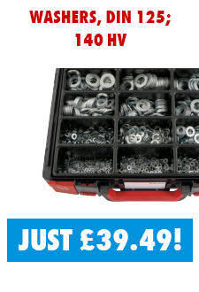 1425pcs DIN 125 washer assortment now just £39.49