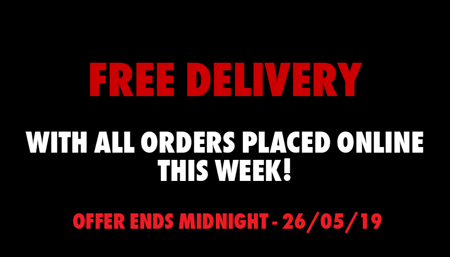 Free Delivery Online, this week only!