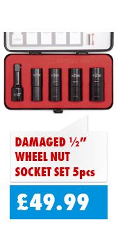 Wheel Nut Socket Set for just £49.99. The best tool for removing tricky wheel nuts!